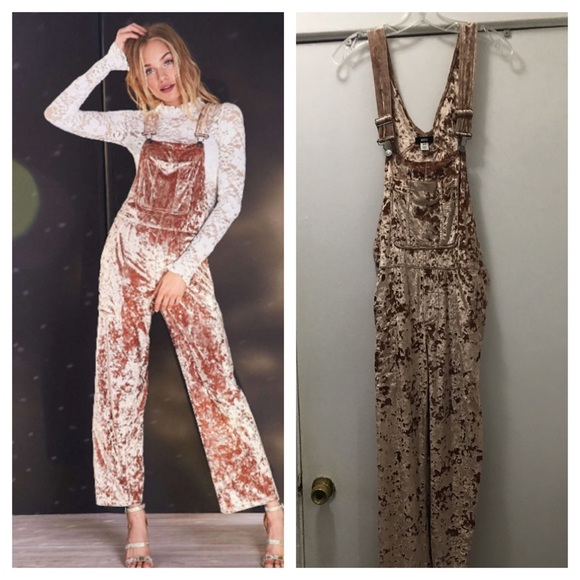 Urban Outfitters Pants - Urban Outfitters BDG Maisie velvet overalls sz SM